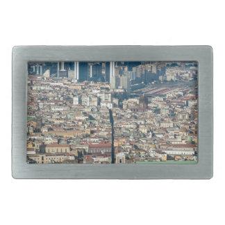 Panorama de Naples Boucles De Ceinture Rectangulaires