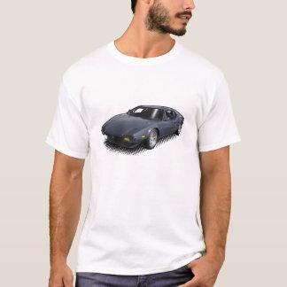 Pantera bleu profond sur le T-shirt blanc