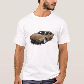 Pantera en bronze sur le T-shirt blanc