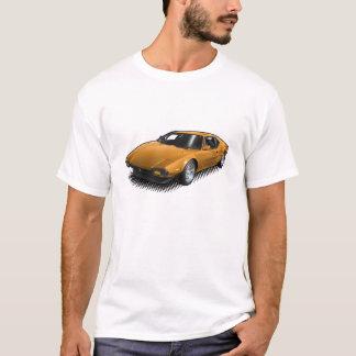 Pantera orange sur le T-shirt blanc