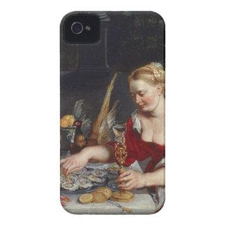 Paon servi dans le plein plumage coques iPhone 4