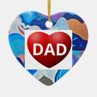 Papa d'amour de flèche ornement cœur en céramique