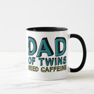Papa de caféine du BESOIN de jumeaux Mug