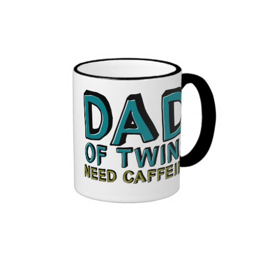 Papa de caféine du BESOIN de jumeaux Tasse À Café