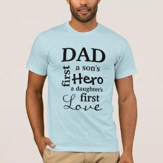 Papa de Eerste Held van een Zoon de Eerste Liefde T Shirt