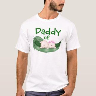 Papa des jumeaux mélangés t-shirt