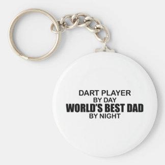 Papa du monde de joueur de dard le meilleur par nu porte-clé rond