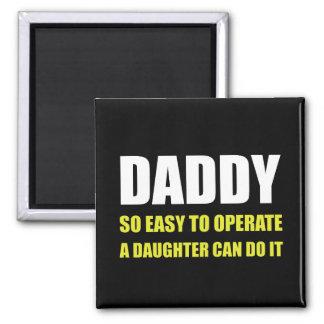 Papa facile d'utiliser la fille magnet carré
