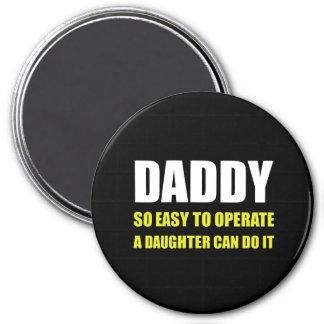 Papa facile d'utiliser la fille magnet rond 7,50 cm