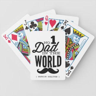 Papa No.1 dans les cartes de jeu de moustache du Jeu De Poker