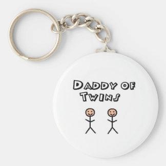 papa tweelingen sleutelhanger
