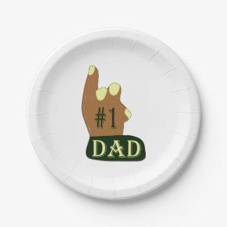 Papa vert du jaune #1 assiettes en papier