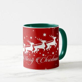 Pape Noel en traîneau (vert) Mug