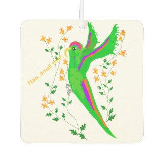 Papegaai die de bloemen ruiken auto luchtverfrissers