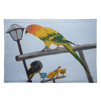 Papegaaien placemat