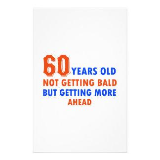 Papeterie 60 années drôles non chauves