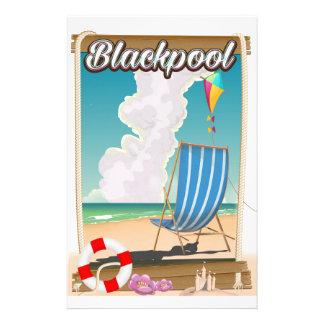 Papeterie Affiche de voyage de bord de la mer de plage de