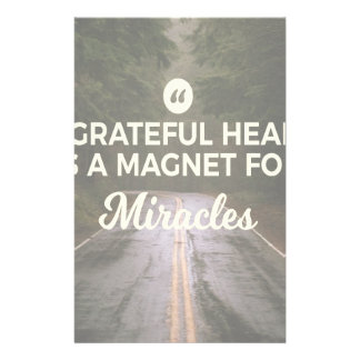 Papeterie Aimant reconnaissant de miracle de coeur