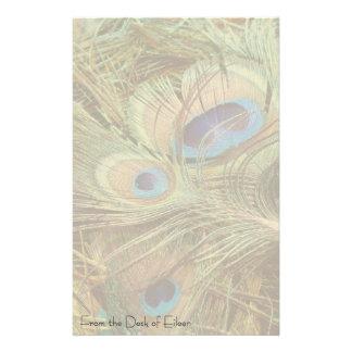 Papeterie Animaux de faune de plumes d'oiseau de paon