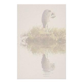 Papeterie Animaux de faune d'oiseau de héron de grand bleu