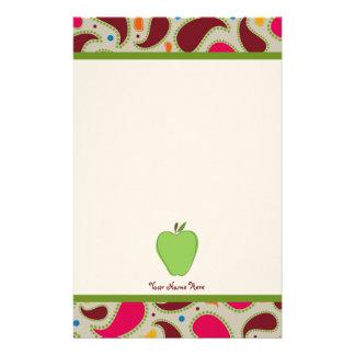 Papeterie Apple vert et professeur personnalisé par Paisley