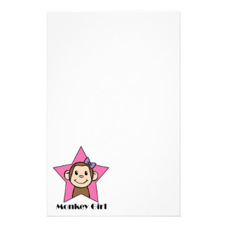 Papeterie Arc d'étoile de rose de fille de singe de sourire