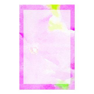 Papeterie Arrière - plan floral d'aquarelle de fleur pourpre