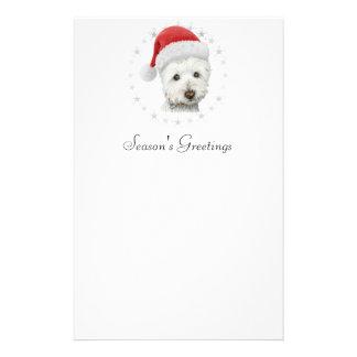 Papeterie Art de chien de Westie de Noël