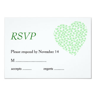 Papeterie assez florale de mariage en vert carton d'invitation 8,89 cm x 12,70 cm