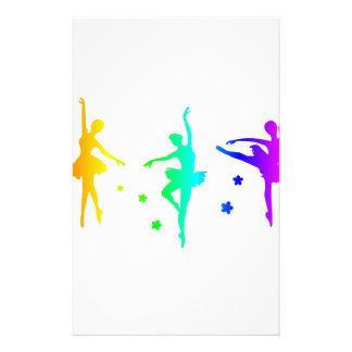 Papeterie Ballet d'arc-en-ciel