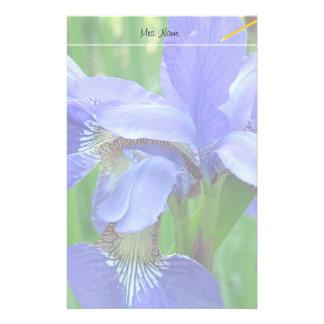 Papeterie belles fleurs bleues d'iris