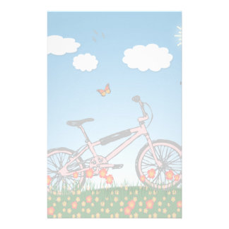 Papeterie Bicyclette rose