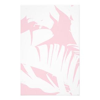 Papeterie Blanc sur le motif tropical rose de feuille de