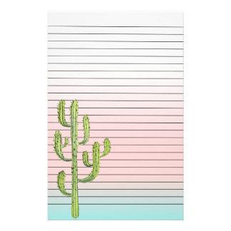 Papeterie Cactus grand et coucher du soleil de désert