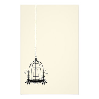 Papeterie Cage à oiseaux vintage rustique