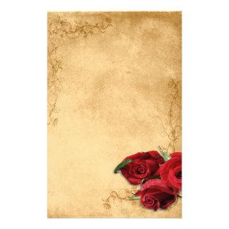 Papeterie Caramel vintage Brown et mariage rose