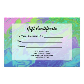 Papeterie Certificat-prime vert-bleu coloré