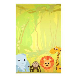 Papeterie C'est un baby shower de jungle