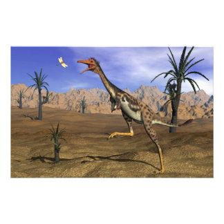 Papeterie Chasse de dinosaure de Mononykus - 3D rendent