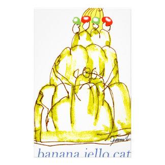 Papeterie chat élégant de jello de la banane des fernandes