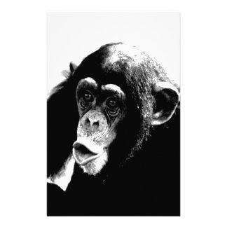Papeterie Chimpanzé blanc noir