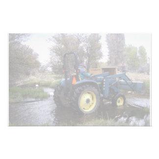 Papeterie Clairière de crique de tracteur