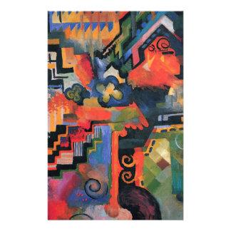 Papeterie Composition colorée avant août Macke