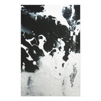 Papeterie Conception noire et blanche d'illustration