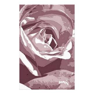 Papeterie Conception rose d'illustration de granit en soie