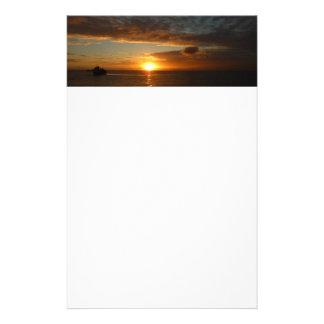 Papeterie Coucher du soleil au paysage marin tropical de la