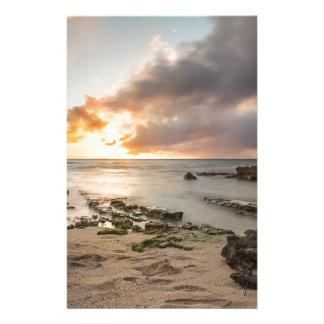 Papeterie Coucher du soleil hawaïen tropical