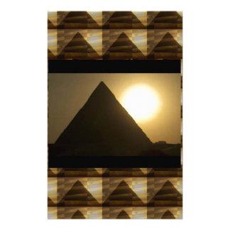 Papeterie Coucher du soleil par des PYRAMIDES de l'Egypte :