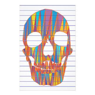 Papeterie Crâne coloré