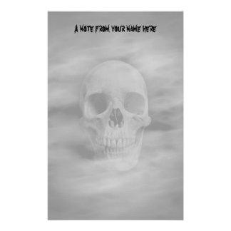Papeterie Crâne fantomatique d'horreur de Halloween